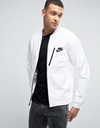 Nike Advanced Knit 15 Jersey Bomber Jacket In White 846878 100 White