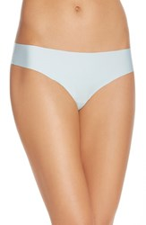 Women's Halogen 'No Show' Thong Blue Pastel
