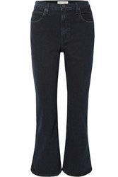 Proenza Schouler Pswl Cropped High Rise Flared Jeans Midnight Blue