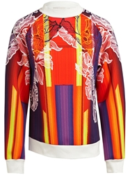 Peter Pilotto Floral Print Sweatshirt Yellow And Orange