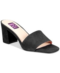 Mojo Moxy Ceci Block Heel Mules Women's Shoes Black
