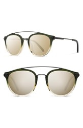 Shwood Kinsrow 49Mm Acetate And Wood Sunglasses Mojito Gold Mirror Mojito Gold Mirror