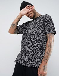 Asos Oversized T Shirt With Leopard Print Black