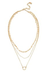 Baublebar Adrielle Triple Strand Necklace Gold