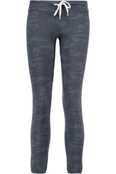 Monrow Printed Jersey Track Pants Storm Blue