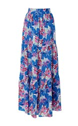 Soler Pia Gathered Tier Maxi Skirt Floral