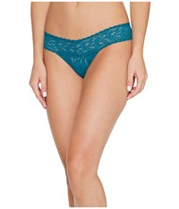 Hanky Panky Signature Lace Low Rise Thong Moodstone Green Women's Underwear