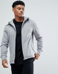 Boss Athleisure Hoodie With Zip Thru Grey