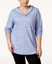 Styleandco. Style And Co. Sport Plus Size Space Dyed Pullover Hoodie Only At Macy's Purple Combo