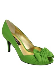 Nina Forbes Satin Pumps Apple Green