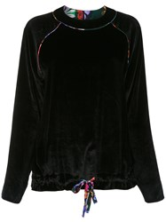 Sissa Silk Blend Long Sleeves Blouse Black