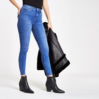 River Island Bright Blue Molly Mid Rise Jeggings