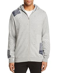 Scotch And Soda Worked Out Patch Zip Hoodie Gray