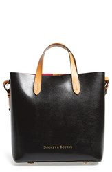 Dooney And Bourke 'Lilliana' Lizard Embossed Leather Tote Black Black Hot Pink