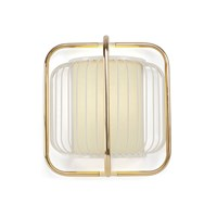 Amara Jules Wall Lamp White And Brass