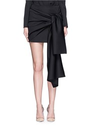 Stella Mccartney 'Peggy' Sash Tie Tuxedo Wool Mini Skirt Black