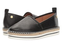 Love Moschino Embossed Logo Espadrille Black