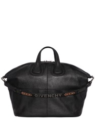 Givenchy Nightingale Leather Bag W Studded Strap Black