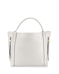Neiman Marcus Double Zip Tote Bag White