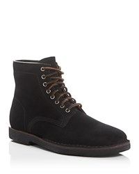 Frye Arden Suede Lace Up Boots Black