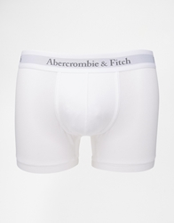 Abercrombie And Fitch Trunks With Logo Waistband White