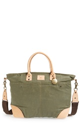 Will Leather Goods Coated Canvas Tote Olive
