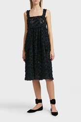 Shrimps Textured Dress Navy
