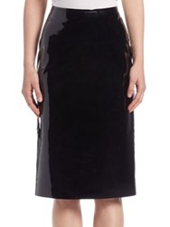 Lanvin Patent Leather Pencil Skirt