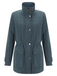Four Seasons Quilted Jacket Teal