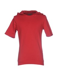 Daniele Alessandrini Grey Sweatshirts Red