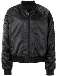 D.Gnak Sheen Bomber Jacket Black