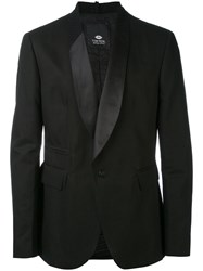 Tom Rebl Classic Blazer Men Cotton Linen Flax Acetate Viscose 50 Black