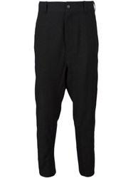 Ann Demeulemeester Drop Crotch Trousers Black