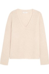 Helmut Lang Wool And Cashmere Blend Sweater Beige