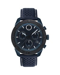 Movado Bold Sport Watch With Navy Leather Strap