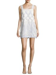 Alexis Fulton Striped Floral Embroidered Mini Dress Stripe Embroidery