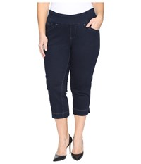 Jag Jeans Plus Size Marion Pull On Crop In Comfort Denim In After Midnight After Midnight Women's Black
