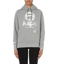 Aape By A Bathing Ape Motif Jersey Hoody Grey