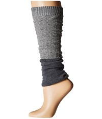 Steve Madden Slouch Marl Leg Warmer Heather Dark Grey Women's Knee High Socks Shoes Gray