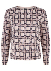 People Tree Zandra Rhodes Comic Check Long Sleeve Top Multi Coloured