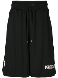 Marcelo Burlon County Of Milan Drawstring Shorts Men Polyamide Polyester Viscose Xs Black