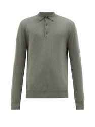 Allude Cashmere Polo Sweater Light Green