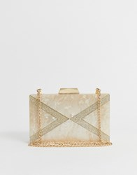Lipsy Acrylic Marble Effect Box Clutch Bag In Gold