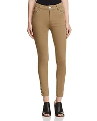 The Fifth Label Stevie Skinny Lace Up Jeans In Khaki