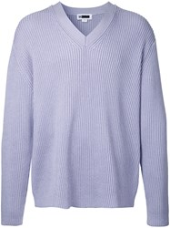H Beauty And Youth Ribbed Detail Jumper Pink Purple