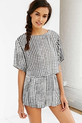 Minkpink Gingham Short Black