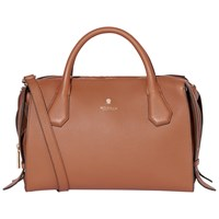 Modalu Willow Leather Triple Grab Bag Tan