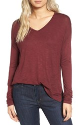 Madewell Women's Anthem Long Sleeve Tee Rusted Burgundy