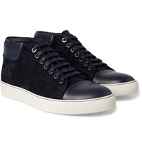 Lanvin Suede And Leather Sneakers