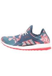 Adidas Performance Pureboost X Cushioned Running Shoes Mineral Blue Halo Pink Dark Blue